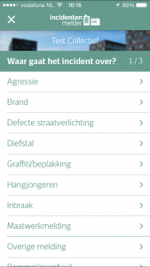 Incidentenmelder stap 1