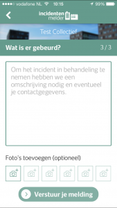 Incidentenmelder stap 3