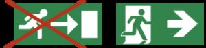 pictogrammen vluchtroutes